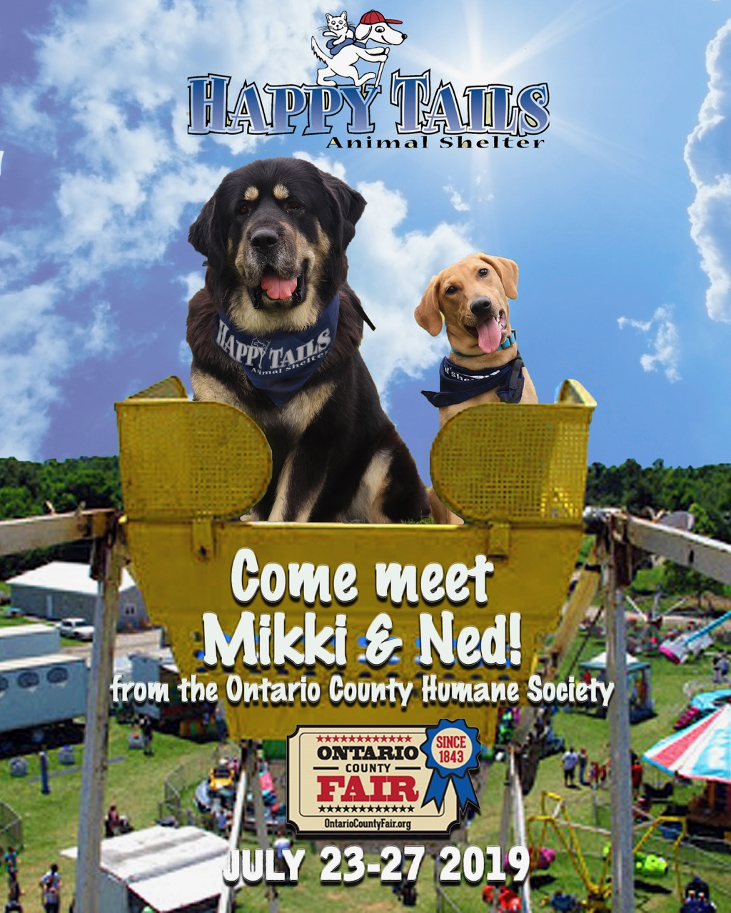 Come meet Nikki and Ned at the Ontario County Fair.