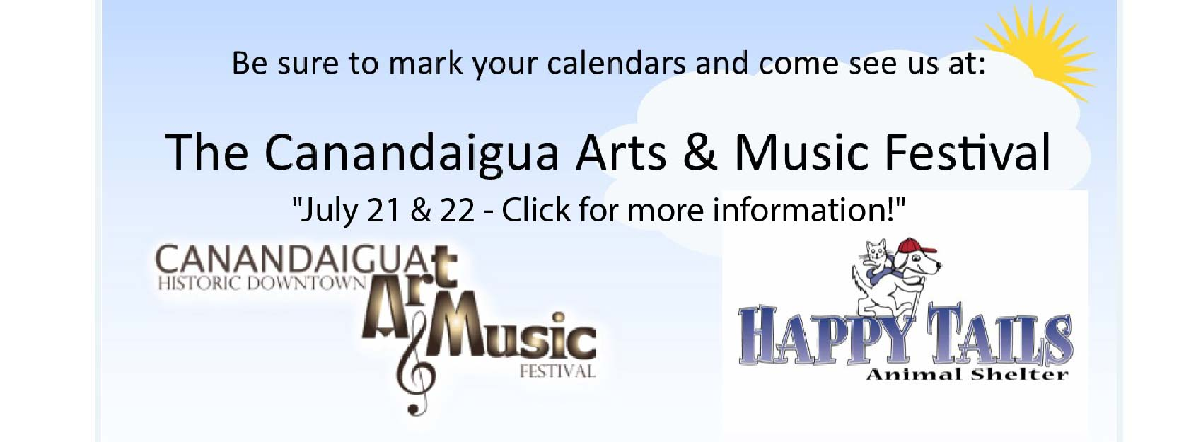 Please save July 21 and 22 to come to the Canandaigua Arts Festival!