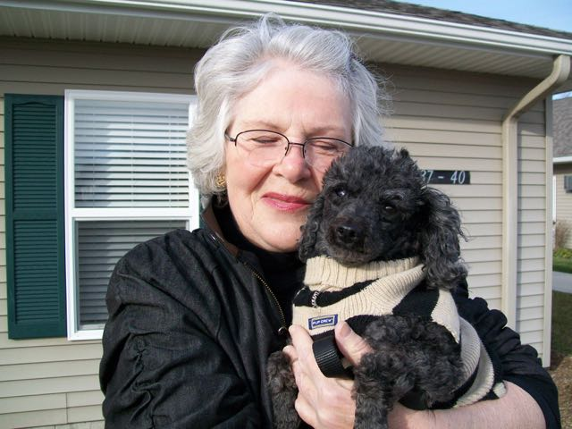 Linda Bruce and her dog Hogan